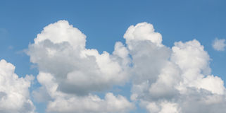 Sky. White and gray in cloudscape with blue sky Stock Photos