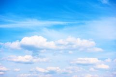 Sky and white heap clouds royalty free stock photo