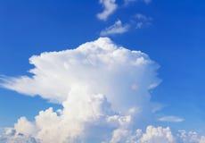 Sky. White mushroom cloud in blue sky Stock Photo