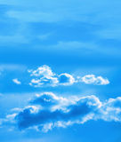 Sky with white puffy clouds Stock Photography