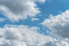 Sky. Wind and smoke clouds in blue sky Stock Images