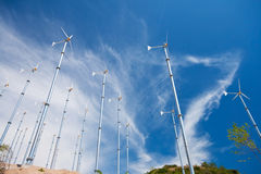 Sky, Wind turbine Royalty Free Stock Image