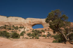 Sky Window. A window like rock formation in the New Mexico desert Stock Photography