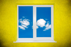 Sky in the window Stock Photography