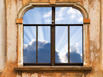Sky in Window Royalty Free Stock Images