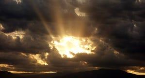 Sky window / golden sunset royalty free stock photography