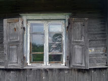 Sky in the window. Stock Photos