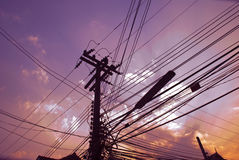 Sky wires Stock Image