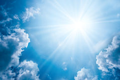 Free Sky With Clouds And Sun Stock Photography - 26966392