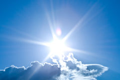 Sky With Sun Royalty Free Stock Photo
