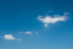 Sky. Wonderful blue sky with beautiful cloud in the sunshine day Stock Image