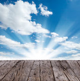 SKy with wooden planks Stock Images