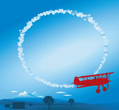 Sky writing  Royalty Free Stock Photo
