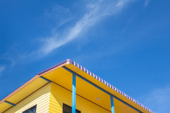 Sky and yellow house ,Country home royalty free stock image