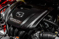 SkyActiv Engine of Mazda 2 Stock Photo