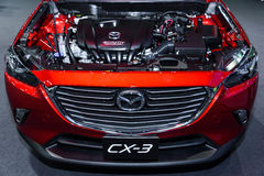 SkyActiv Engine of Mazda CX-3. stock images