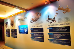 Skyactiv technology at launch of Mazda CX-5 Stock Photography