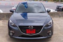 Skyactive nya Mazda 3 Arkivfoto