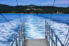 Skyathos island beach Royalty Free Stock Images