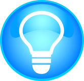 skyblue bulb button Royalty Free Stock Photography
