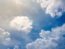 Skyblue, wolken Royalty-vrije Stock Foto