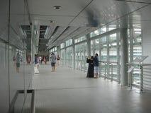 skybridge dall'interno, torri di Petronas, Kuala Lumpur fotografia stock libera da diritti