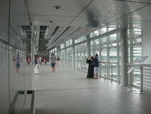 skybridge from inside, Petronas Towers, Kuala Lumpur Royalty Free Stock Photo