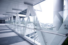 Skybridge linking two office tower blocks Stock Photography