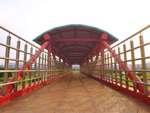 Skybridge in the park Royalty Free Stock Image