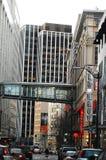 Skybridge zwischen pazifischem Platz-Mall und Nordstroms Lizenzfreies Stockfoto