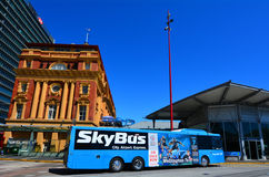 SkyBus out side Auckland Ferry Terminal New Zealand Royalty Free Stock Image