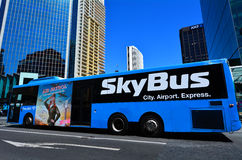SkyBus on Queen Street in Auckland New Zealand Royalty Free Stock Photo