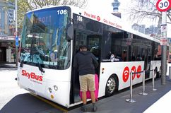 Skybus Super Shuttle in Auckland New Zealand Stock Images
