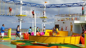 SkyCourse on the Carnival Breeze Royalty Free Stock Photo
