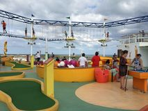SkyCourse on the Carnival Breeze Stock Photography