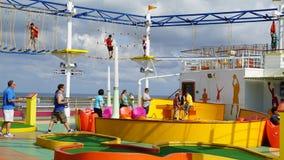 SkyCourse en la brisa del carnaval foto de archivo libre de regalías
