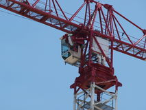 Skycrane-Fahrerhaus-Nahaufnahme Stockfotografie