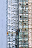 Skycraper建设中,威海 免版税图库摄影