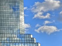 Skycraper clouds  reflections Royalty Free Stock Photography