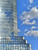 Skycraper clouds  reflections Stock Photography