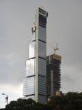 Skycraper construction site in Bogota, Colombia. Royalty Free Stock Photos
