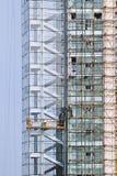 Skycraper under konstruktion, Weihai Royaltyfri Fotografi