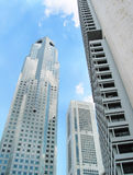 skycrapers Σινγκαπούρης Στοκ φωτογραφία με δικαίωμα ελεύθερης χρήσης