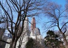 Skycrapers Brooklyn céntrica foto de archivo