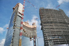 Skycrapers building. Yard of Porta Nuova project, in Milan. Italy Stock Image