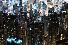 Skycrapers de Hong Kong Imágenes de archivo libres de regalías