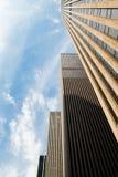 Skycrapers di architettura di NYC Immagine Stock