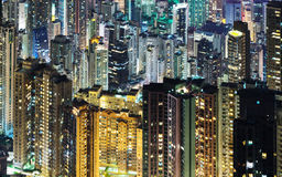 Skycrapers di Hong Kong Fotografia Stock Libera da Diritti