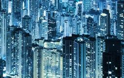 Skycrapers di Hong Kong Fotografie Stock
