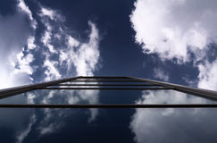 Skycrapers modernes d'architecture d'affaires Photo stock